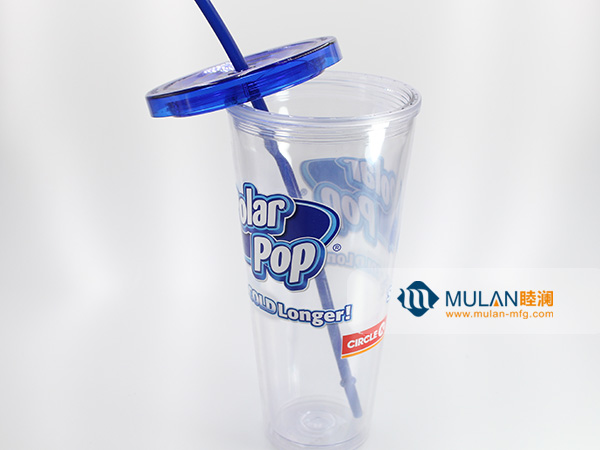 Injection molded double-layer beverage cup